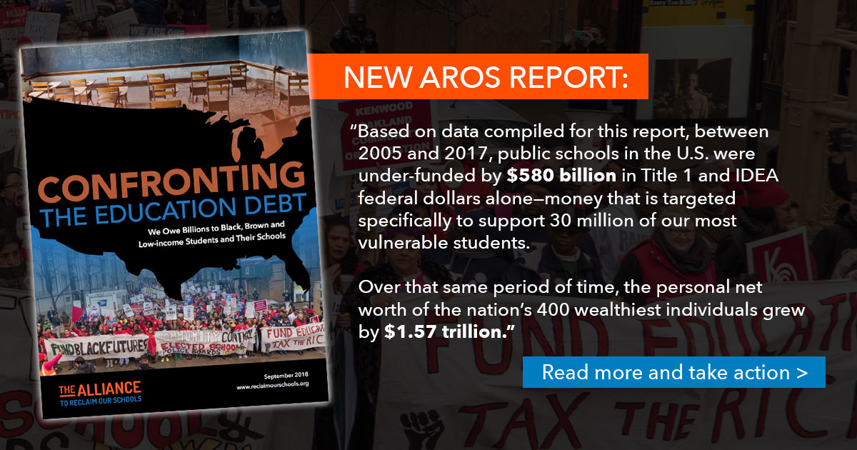Confronting Education Debt >> Alliance To Reclaim Our Schools