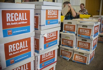 Recall petitions in boxes