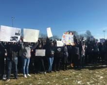 Chicago students rally on March 14th