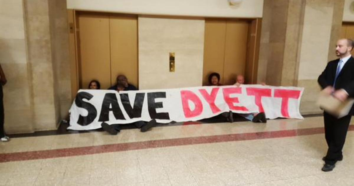 Organizers protest in City Hall